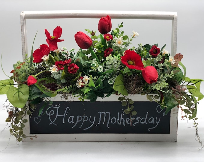 Mother's day flowers, artificia flower arrangement, Mother's Day gift