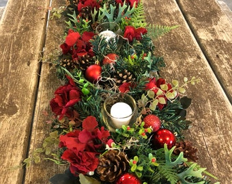 christmas centerpiece christmas garland advent centerpiece