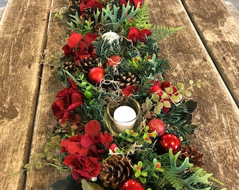 christmas centerpiece christmas garland advent centerpiece - Christmas Centerpiece Decorations