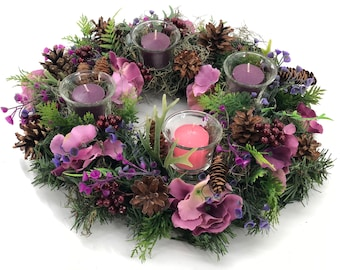 Advent wreath, free priority shipping!!Candles included! Christmas wreath,  Christmas decor