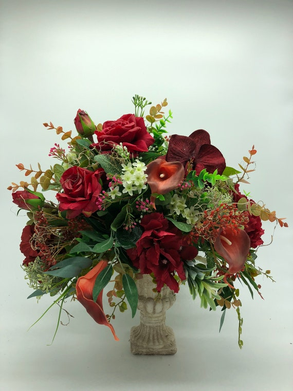 Artificial Flower Arrangement Etsy