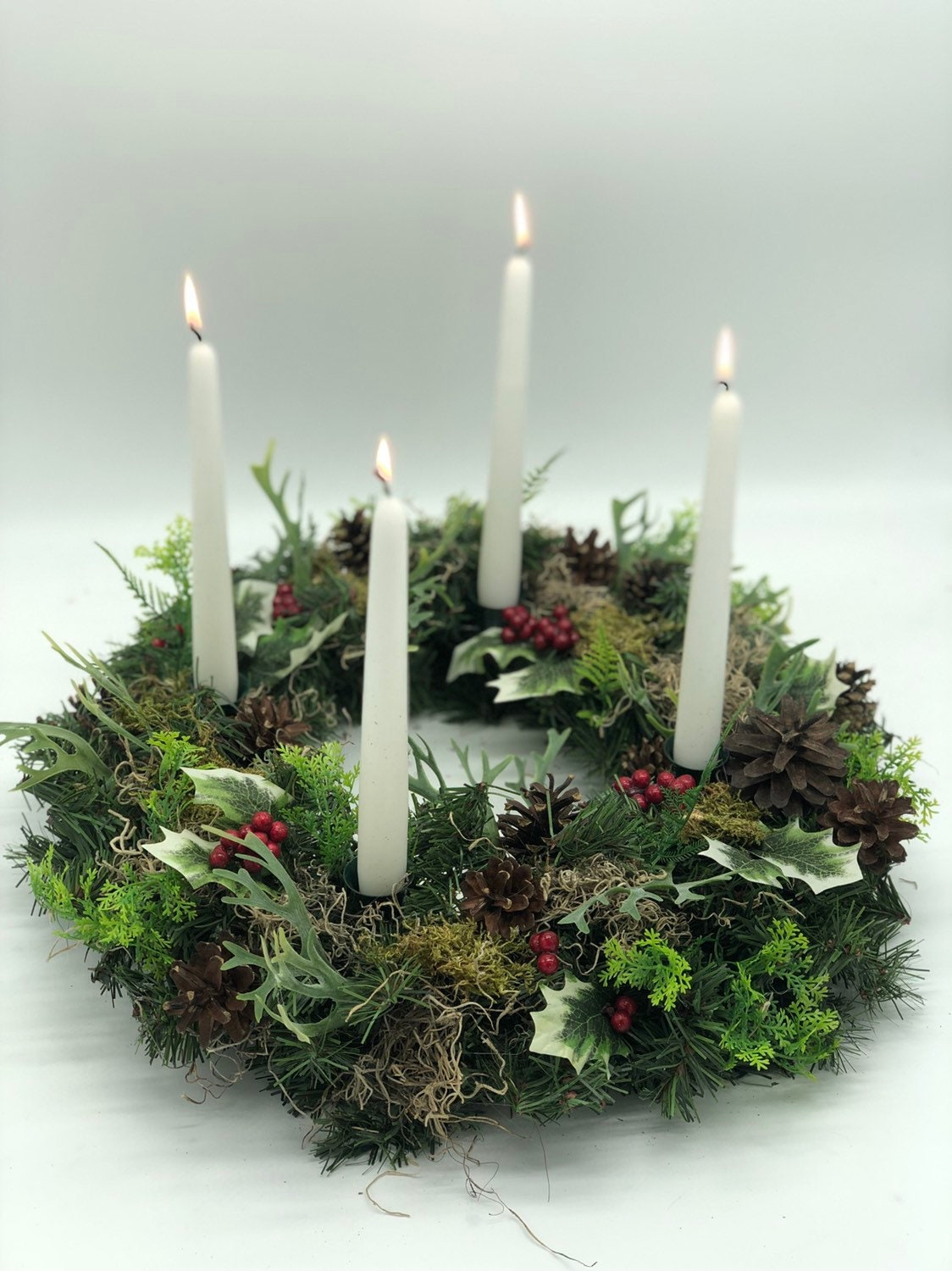 Swell Artificial Christmas Wreath Advent Wreath Table Wreath Home Interior And Landscaping Ologienasavecom