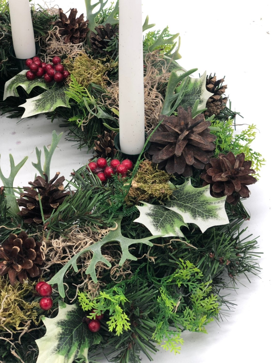 Strange Artificial Christmas Wreath Advent Wreath Table Wreath Home Interior And Landscaping Ologienasavecom