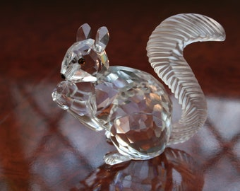 ca4fa517d A Swarovski Crystal Large Squirrel in Superb Condition with Original Box,  Signed 2.3/8