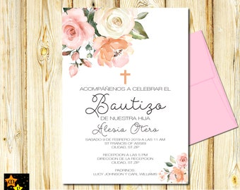 peach invitations etsy