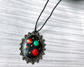 Planetary Solar System Polymer Clay Necklace