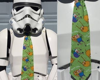 Adventure Time Novelty Necktie Tie - SciFi Finn Jake Green