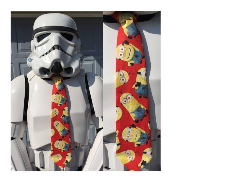 Minions Despicable Me Necktie Neck Tie Kids Boy Halloween Tie Cosplay Gift