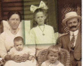 Old Family Sepia Photography with Humorous Quotes. Funny WallDecor.