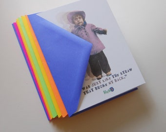 Wacky, unique, funky fun note cards. Perfect for the ice breaker or conversation starter to a friend or just someone you care about!