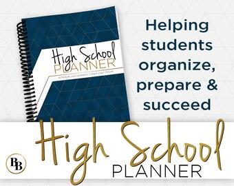 high school planner etsy