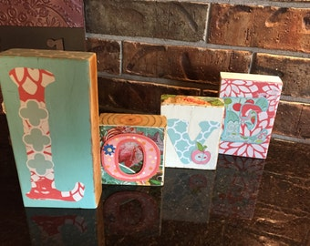 Message-Love-Wood-Blocks-Aqua-Coral-Letters