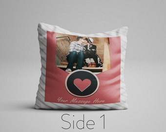 Personalized Photo Pillow, Double Sided Photo Pillow, Customized Photo Pillow, Custom Picture Pillow, Photo On A Pillow, Customizable Pillow