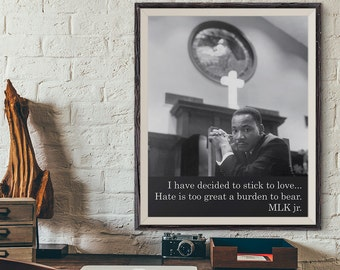Martin Luther King sayings, MLK quote, MLK Day Wall Art, African American, MLK Jr Equal Human Rights Vintage Poster, Martin Luther King Day
