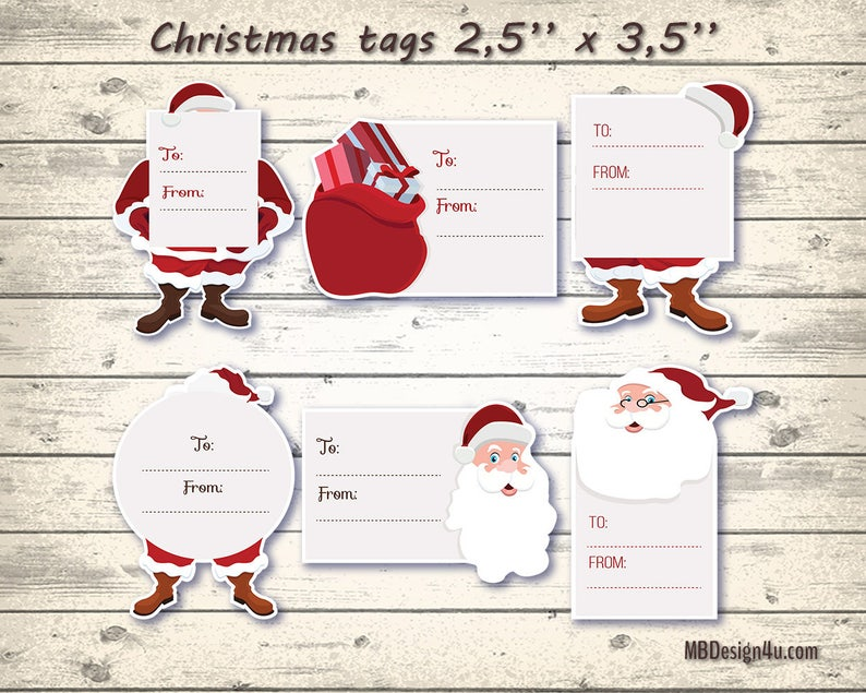 photo about Santa Labels Printable referred to as Printable Santa Reward Tags Santa Claus Labels Do it yourself Xmas Tags Xmas Labels Vacation Tags Xmas Present Tags Electronic Holiday vacation Prefer Tags