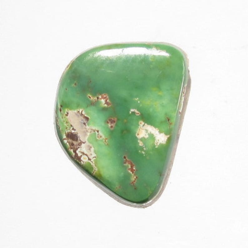 GENUINE ORVIL JACK GREEN TURQUOISE PENDANT STERLING SILVER FAST FREE SHIPPING !!