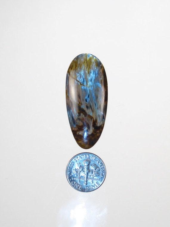 Bijou de qualité Pietersite naturel non traité cabochon PTR31 (41mmx18mm) (41mmx18mm) PTR31 environ 905412