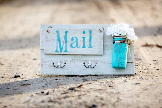 Entry Door Mail Organizer Catch All Honey Etsy