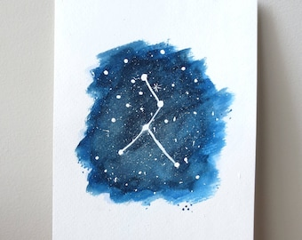 Cancer Zodiac watercolor painting