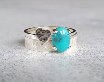 44595d4a6 Turquoise Ring - Gemstone Stacking Ring - Gemstone Ring - Gemstone Stack -  Cabochon Ring - Stacking Ring - Stackable Rings - Ring Stack -