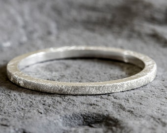 Silver Textured Stacking Ring - Stacking Rings - Silver Stack Rings - Stackable Rings - Ring Stack - Silver Ring - Thumb Ring - Band Ring