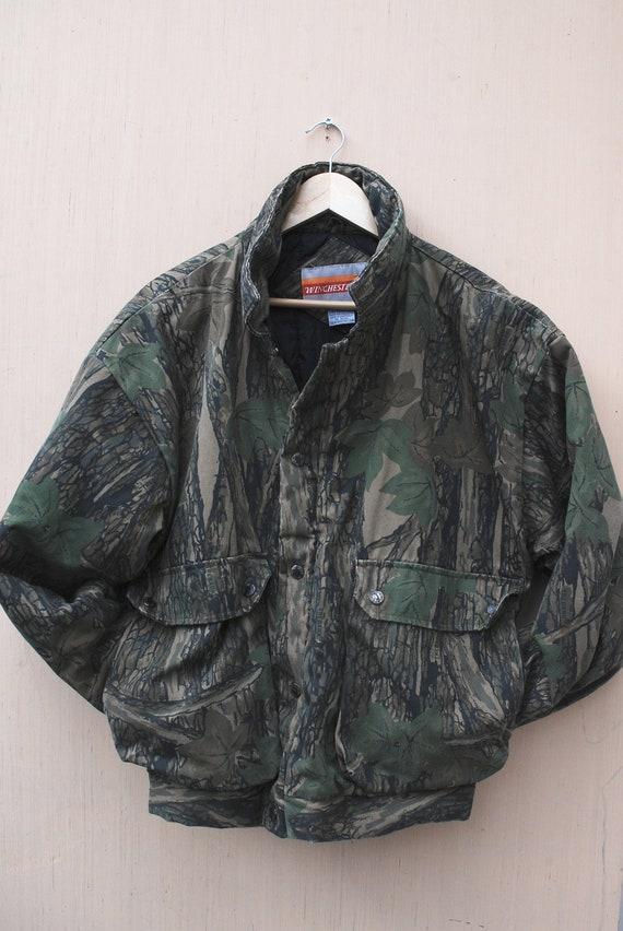 Vintage Winchester Woodland Camo Hunting Jacket