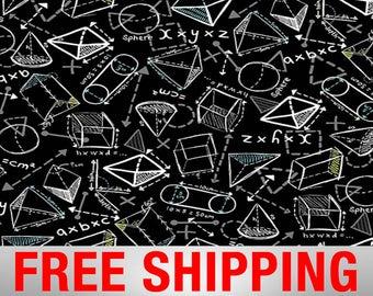 "Fleece Fabric Math Engineers Physics Science Engineering 60"" Wide Free Shipping 43435"
