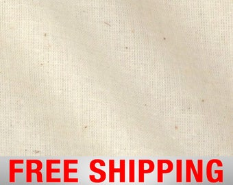 """Natural Muslin Medium Weight 100 % Cotton Unbleached 60"""" Wide Free Shipping 17460"""