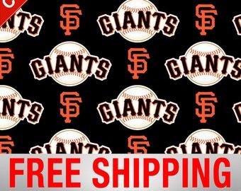 San Francisco Giants Allovers MLB Cotton Fabric - 58