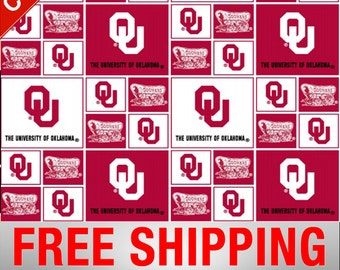 a2ee67f2e05 University of Oklahoma Sooners NCAA Cotton Fabric - Style  OU-020 - Free  Shipping!!