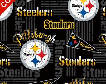 def6c363ee637 Pittsburgh Steelers Retro NFL Cotton Fabric - Style  14450 - Free Shipping!!