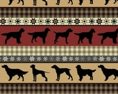 Hunting Dogs Tribal Fleece Fabric - 60 quot Wide - Style 6884 - Free Shipping