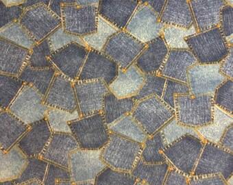 """Fleece Fabric Jeans Pockets 60"""" Wide Style AA 41020"""