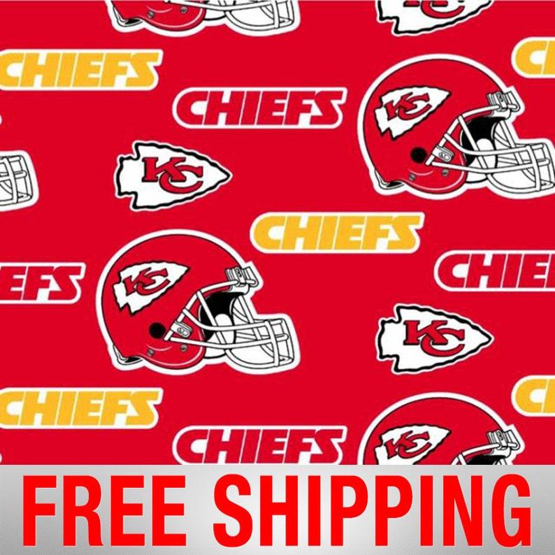 afa980e6 Kansas City Chiefs NFL Fleece Fabric - 60
