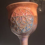 Bargain Tie-dye Beltane/Beltaine May Day Personal Chalice