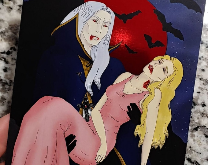 Blood Moon Postcard Art Print