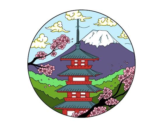 Chureito Pagoda Scenic Japan Enamel Pin **Preorder**