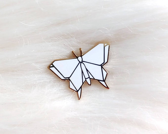 Pure White Origami Butterfly Pin