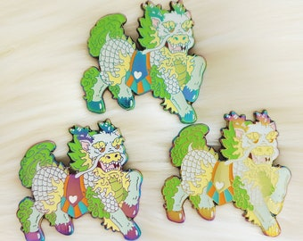Lucky Mythical Rainbow Qilin Enamel Pin *Seconds imperfect pin deal*