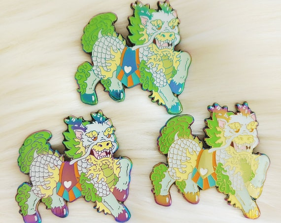 Lucky Mythical Rainbow Qilin Enamel Pin