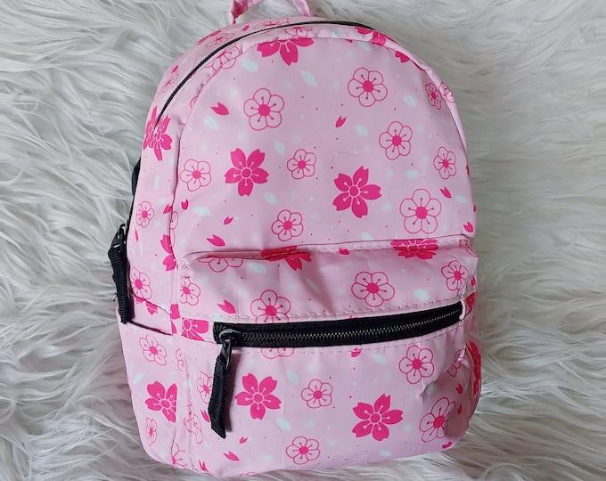 Mini Polyester Backpack - Pink Sakura