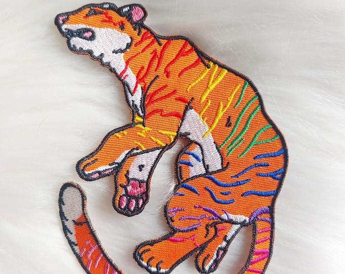 Rainbow Tiger Iron-on Patch