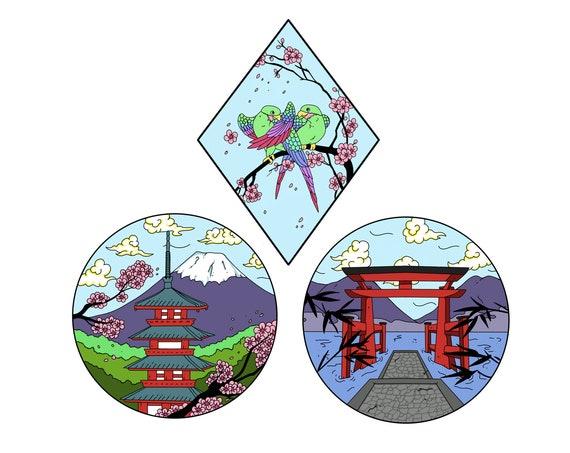 Scenic Japan Enamel Pin Set **Preorder**
