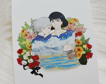 Floral Love Postcard Art Print