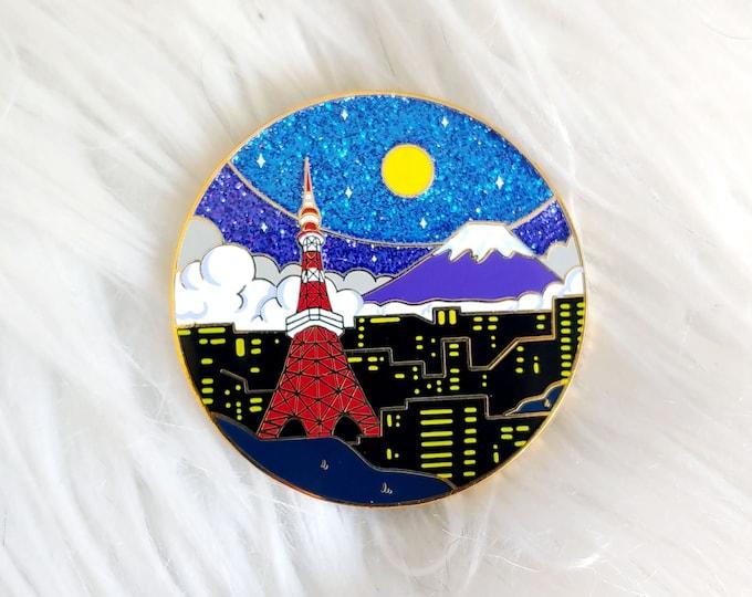 Scenic Japan Enamel Pin Series- Tokyo Tower Midnight Variant