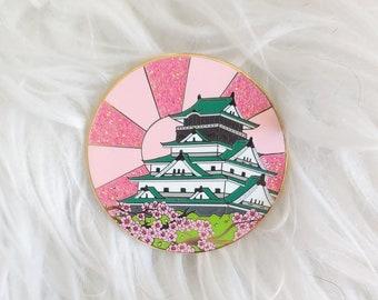 Scenic Japan Enamel Pin Series- Osaka Castle Sakura Variant
