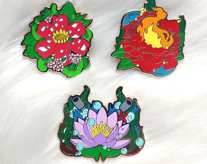 Elemental Florals Enamel Pins Bundle