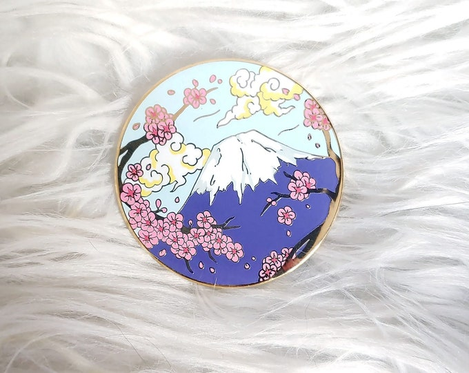 Scenic Japan Enamel Pin Series- Mt. Fuji Light Blue