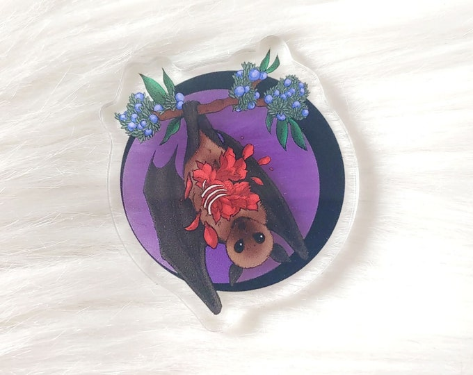 Fruit Bat Translucent Acrylic Pin