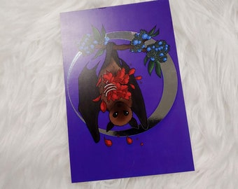 Fruit Bat Postcard Art Print